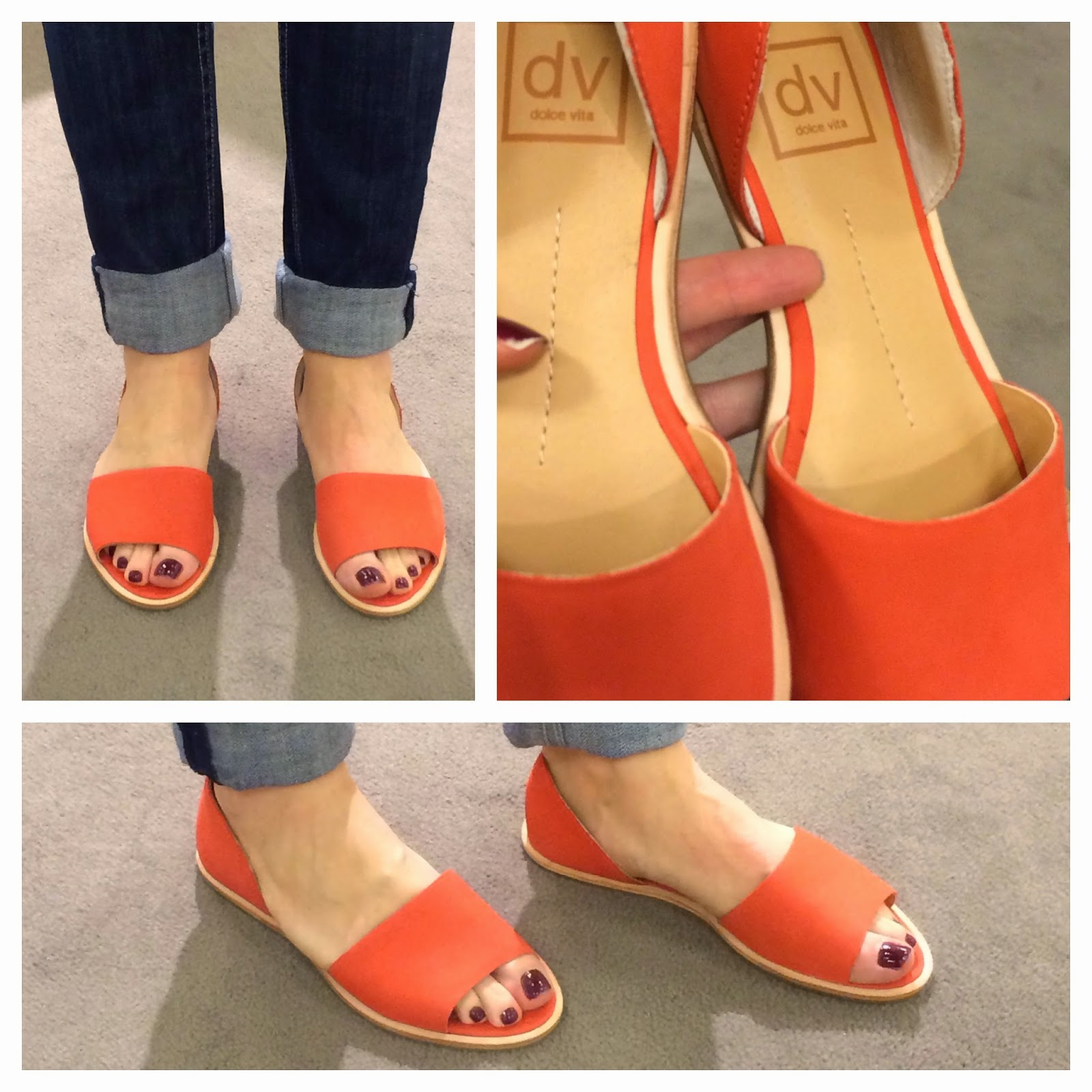 You can also check out THESE orange wedges from Steve Madden and THESE from  Michael Kors. Or if you prefer a flat sandal, check out the Sam Edelman  thong ...